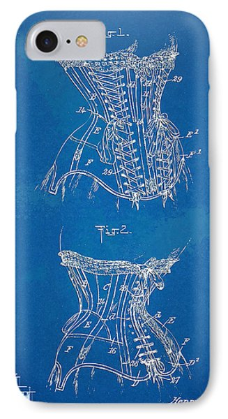 Corset Patent Series 1908 IPhone Case by Nikki Marie Smith