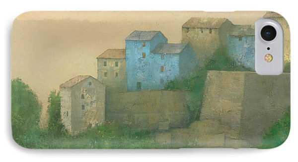 Corsican Hill Top Village Phone Case by Steve Mitchell