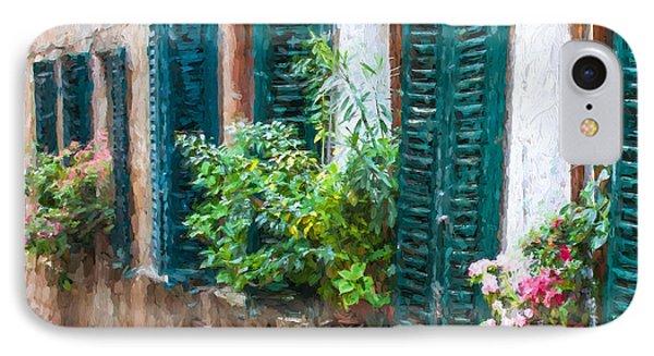 Cortona Window Flowers IPhone Case