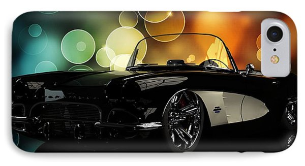 Corvette 1961 IPhone Case by Louis Ferreira