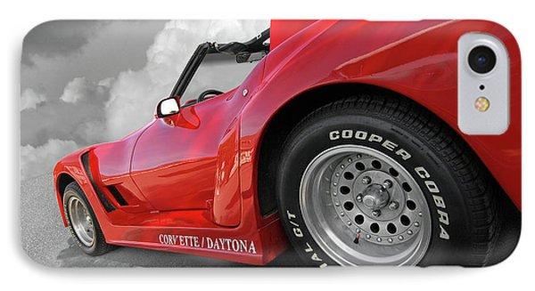 IPhone Case featuring the photograph Corvette Daytona by Gill Billington