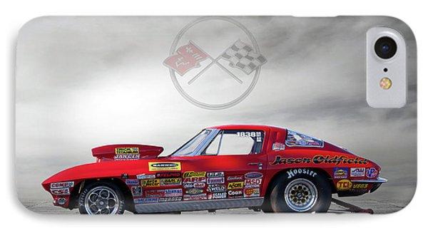 Corvette Profile IPhone Case by Peter Chilelli