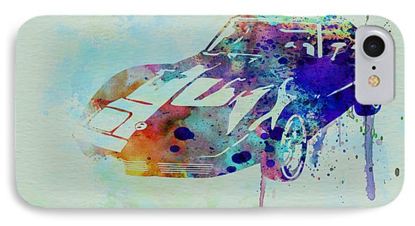 Corvette Watercolor IPhone Case by Naxart Studio
