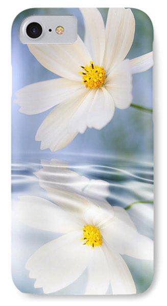 Cosmea Flower - Reflection In Water Phone Case by Silke Magino