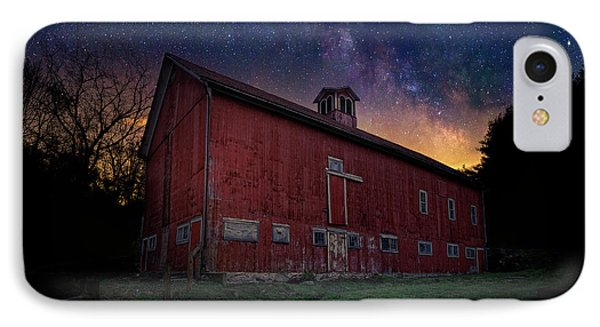 IPhone 7 Case featuring the photograph Cosmic Barn by Bill Wakeley