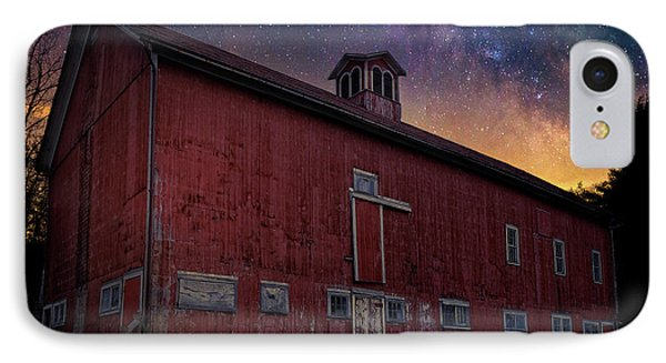 IPhone Case featuring the photograph Cosmic Barn Square by Bill Wakeley