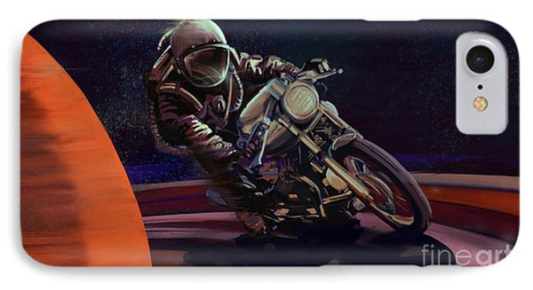 Motorcycle iPhone 7 Case - Cosmic Cafe Racer by Sassan Filsoof