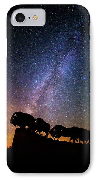 IPhone Case featuring the photograph Cosmic Caprock Bison by Stephen Stookey