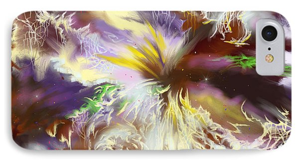IPhone Case featuring the digital art The Flowering Of The Cosmos by Amyla Silverflame