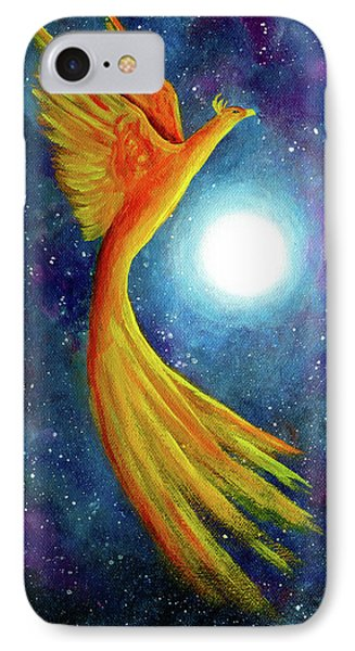 Cosmic Phoenix Rising IPhone Case by Laura Iverson