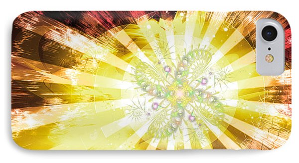 Cosmic Solar Flower Fern Flare 2 IPhone Case by Shawn Dall