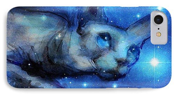 Cosmic Sphynx Painting By Svetlana IPhone Case