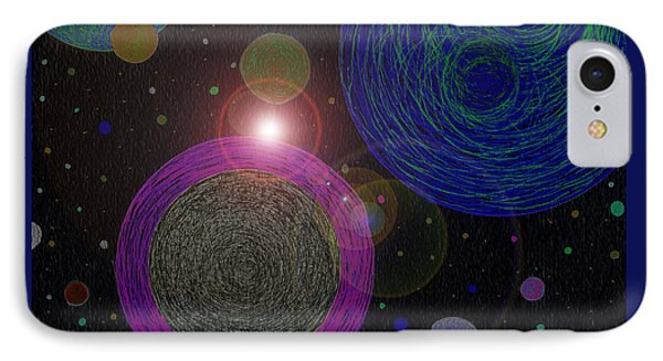 Cosmic Universe IPhone Case by Norma Appleton