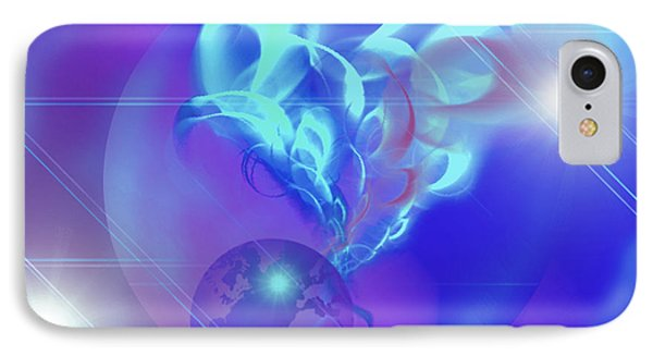 Cosmic Wave IPhone Case by Ute Posegga-Rudel