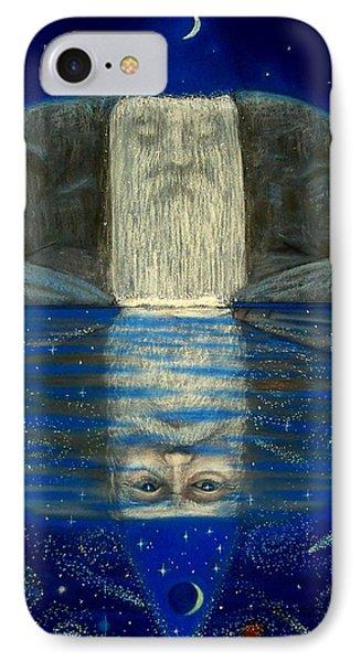 Cosmic Wizard Reflection Phone Case by Sue Halstenberg