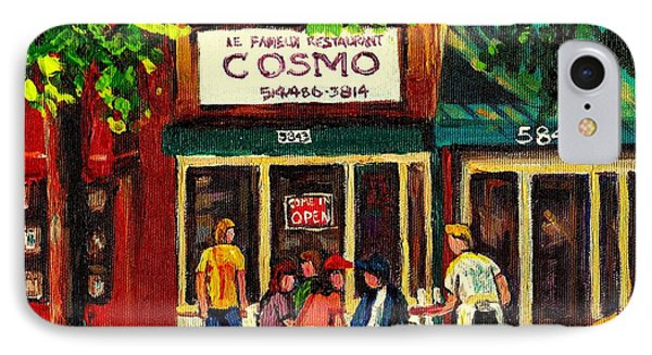 Cosmos Famous Montreal Breakfast Restaurant Phone Case by Carole Spandau