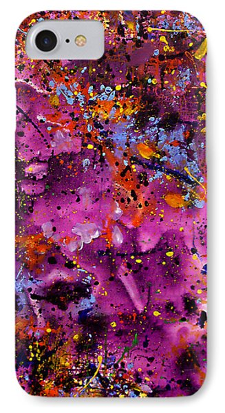 IPhone Case featuring the painting Cosmos by Lynda Lehmann