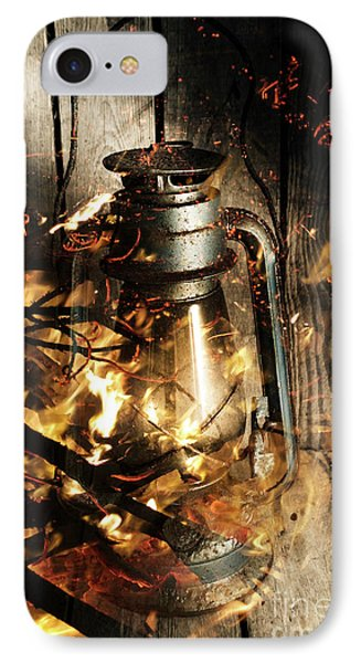 Cosy Open Fire. Cottage Artwork IPhone Case