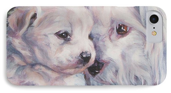 Coton De Tulear With Pup IPhone Case by Lee Ann Shepard