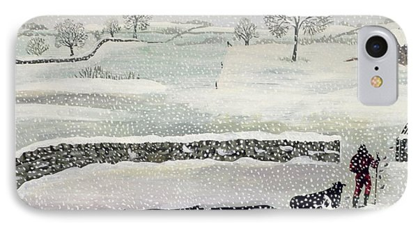 Cotswold - Winter Scene IPhone Case by Maggie Rowe