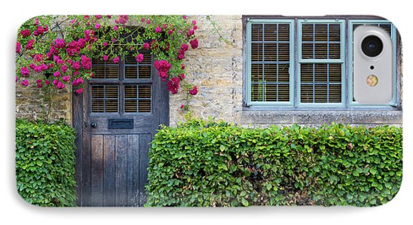 IPhone Case featuring the photograph Cotswolds Cottage Home by Brian Jannsen
