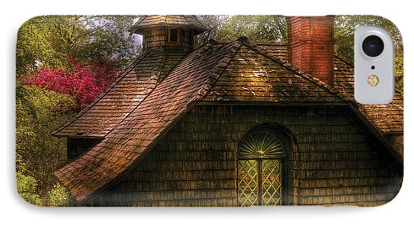 Cottage - Sweet Old Lady House Phone Case by Mike Savad