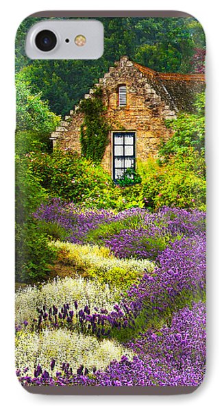 Cottage Amidst The Lavender IPhone Case