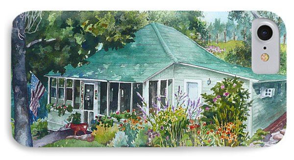 IPhone Case featuring the painting Cottage At Chautauqua by Anne Gifford
