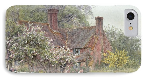 Cottage At Chiddingfold Phone Case by Helen Allingham