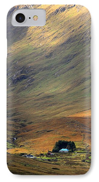 Cottage At The Foothill Of The Colorful Connemara Mountains Ireland  Phone Case by Pierre Leclerc Photography