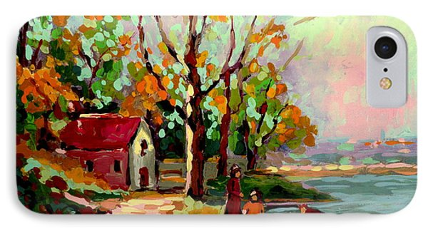 Cottage Country The Eastern Townships A Romantic Summer Landscape Phone Case by Carole Spandau