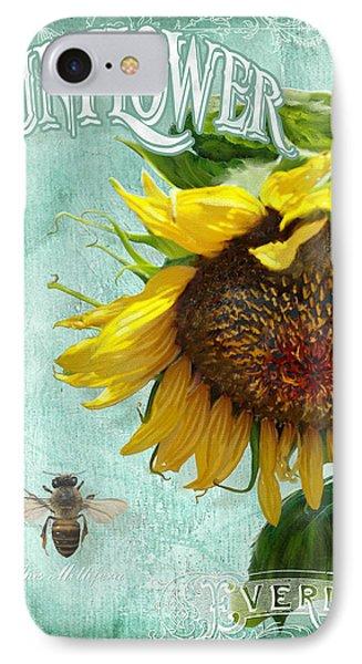 Cottage Garden - Sunflower Standing Tall Phone Case by Audrey Jeanne Roberts
