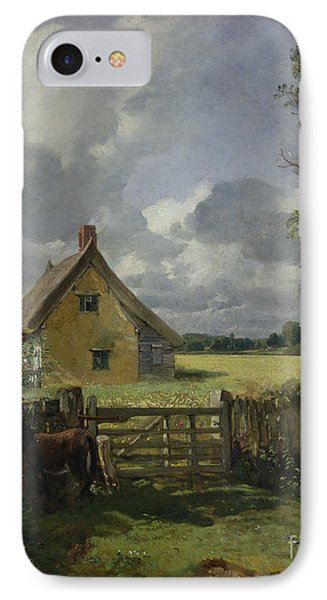 Cottage In A Cornfield IPhone Case by John Constable