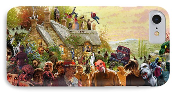 Cottage Of The Living Dead Phone Case by Barry Kite