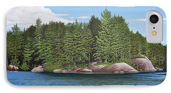 IPhone Case featuring the painting Cottage View Silver Lake by Kenneth M Kirsch