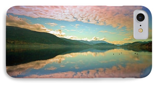 IPhone Case featuring the photograph Cotton Candy Clouds At Skaha Lake by Tara Turner