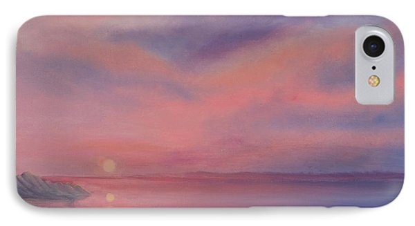 IPhone Case featuring the painting Cotton Candy Sky by Holly Martinson
