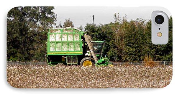 Cotton Picker IPhone Case by Donna Brown