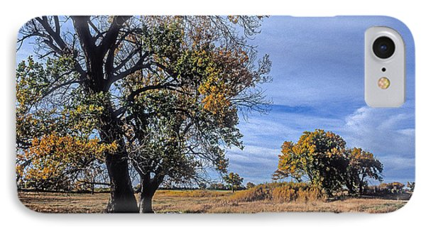 Cottonwood #5 Fall Ranch Colorado Blue Sky IPhone Case by John Brink