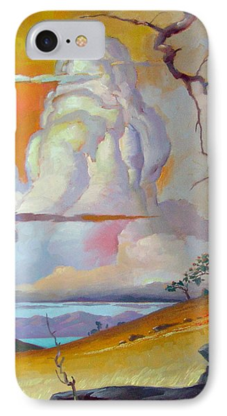 Cottonwood Clouds 3 IPhone Case by John Norman Stewart