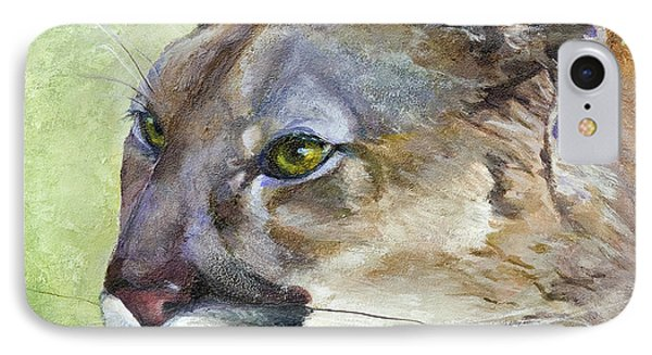 Cougar IPhone Case by Bonnie Rinier