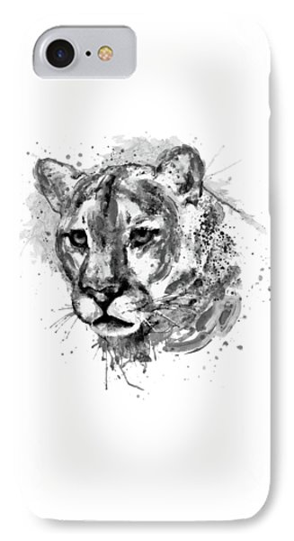 Cougar Head Black And White IPhone Case