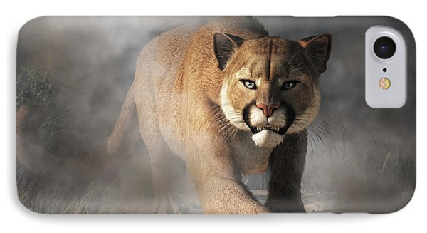 IPhone Case featuring the digital art Cougar Is Gonna Get You by Daniel Eskridge