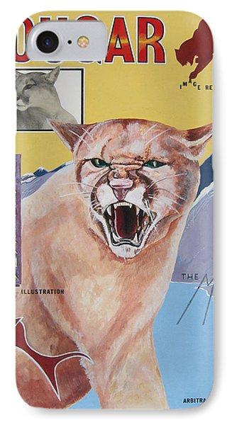 Cougar -visualisation IPhone Case by John Keaton