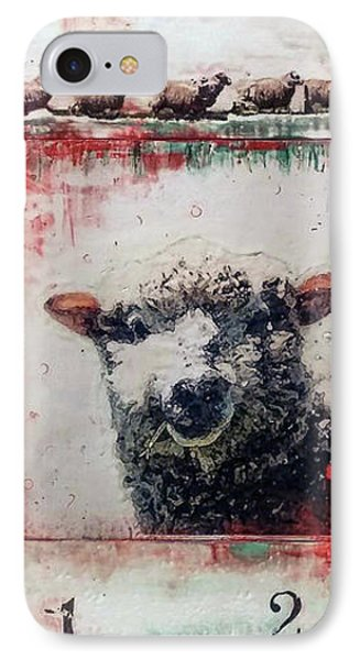 Counting Sheep IPhone Case by Laurie Tietjen