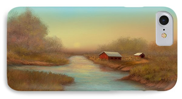 IPhone Case featuring the painting Country Barns by Sena Wilson