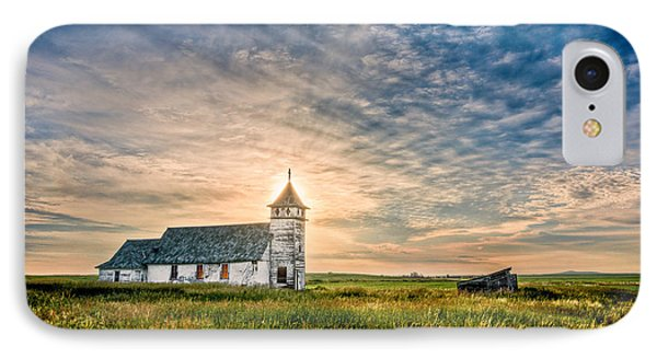 Country Church Sunrise IPhone Case by Rikk Flohr