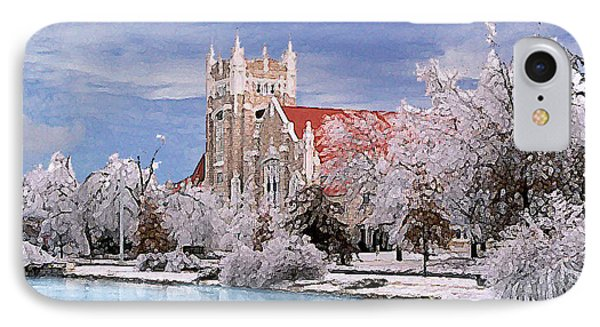IPhone Case featuring the photograph Country Club Christian Church by Steve Karol