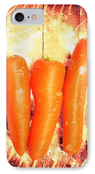 Carrot iPhone 7 Case - Country Cooking Poster by Jorgo Photography - Wall Art Gallery