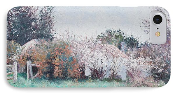 Country Cottage In Spring Time IPhone Case by Jan Matson